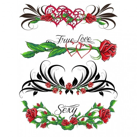 True love Plaque de 4 tattoos