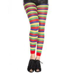 Leggings fantaisie, à bandes horizontales