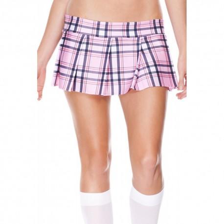Mini jupe plissée, motif écossais