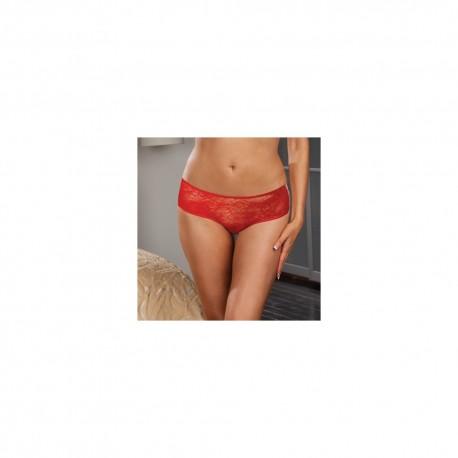 Panty taille basse, ouvert, fronces au dos