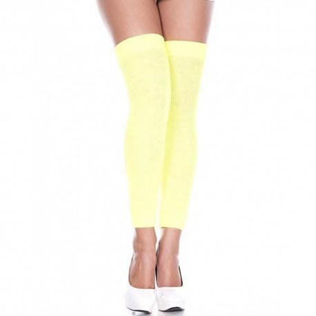 Jambières guêtres côtelées jaunes