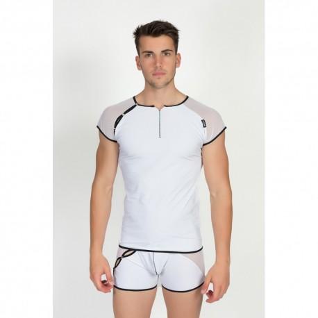 T-Shirt Mixing 2 Blanc